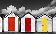 Beach Huts Digital Art Prints - Beach Huts - Torquay - Devon Print by George Standen