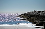 John Collins Metal Prints - Beach Jetty Metal Print by John Collins