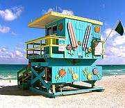 Rescue Prints - BEACH LIFE in Miami South Beach Print by Monique Wegmueller