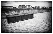 Old School House Photos - Beach Locker by John Rizzuto
