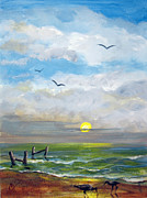 Beach Morn Print by Carol Hart