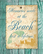 Beach Towel Prints - Beach Notes-A Print by Jean Plout