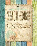 Beach Towel Prints - Beach Notes-D Print by Jean Plout