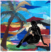 Harlem Mixed Media Prints - Beach Nude 3 Print by Everett Spruill