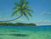 Featured Pastels Originals - Beach of Fiji by Pravin  Sen