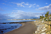 Seacoast Prints - Beach on Costa del Sol in Spain Print by Artur Bogacki