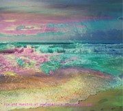 Storm Prints Painting Prints - Beach  Overcast Print by PainterArtist FIN