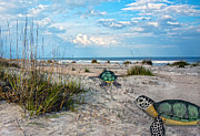 Peaceful Scene Digital Art Posters - Beach Pals Poster by Betsy A Cutler East Coast Barrier Islands