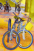 Sports Art Digital Art - Beach Parking For Bikes by Ben and Raisa Gertsberg