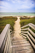 Path Photo Prints - Beach Path Print by Adam Romanowicz
