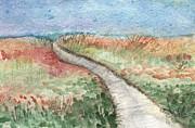 Beach Path Print by Linda Woods