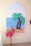 Grande Painting Framed Prints - Beach Patrol Mural Framed Print by Debbie Kiewiet