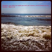 Bible Originals - Beach Picture with Quote by Marian Palucci