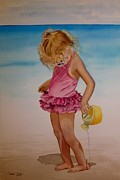 Tonya Butcher Framed Prints - Beach Play 2 Framed Print by Tonya Butcher