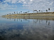 Beach Reflections Print by John Groeneveld
