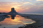 Beach Reflections Print by Michael Thomas