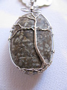 Wire-wrapped Jewelry Originals - Beach Rock Tree 2 by Tareen Rayburn