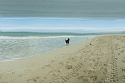 Pet Photo Prints - Beach Run Print by Juli Scalzi