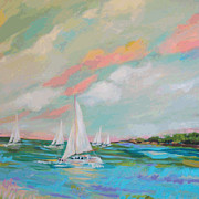 Karen Fields - Beach Sailboat 1