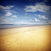Peaceful Scenery Posters - Beach scene Poster by Les Cunliffe