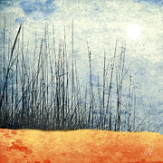 Oats Mixed Media Prints - Beach Seaoats Print by Wing and Ward Studios