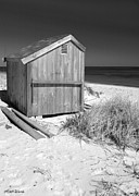Shed Photo Posters - Beach Shed Poster by Michelle Wiarda