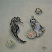 Beach Treasures Print by Jindra Noewi