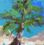 Abstract Jewelry Prints - Beach Trees 2 Print by Julie Ann Roberts