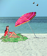 Beach Vacation Print by Rosalie Scanlon