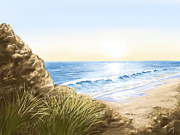 Nature Digital Art - Beach by Veronica Minozzi