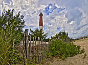 Barnegat Lighthouse Framed Prints - Beach View of Barney Framed Print by Mark Miller