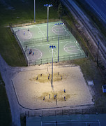 Volley Prints - Beach Volley At Night, Portland Print by Dave Cleaveland