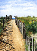 Path To Beach Posters - Beach Walk Poster by Barbara Jewell