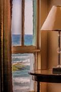 Beach Window Print by Andrea  OConnell