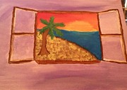 Element Painting Originals - Beach Window by Oasis Tone
