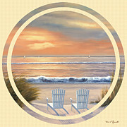 Sunset Prints Framed Prints - Beach World Framed Print by Diane Romanello