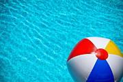Swim Posters - Beachball 1 Poster by Amy Cicconi
