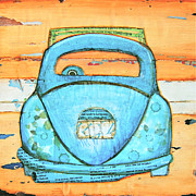 Vw Beetle Mixed Media Framed Prints - Beachbound Framed Print by Danny Phillips