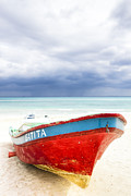 Beached Photos - Beached Beyond The Storm - Riviera Maya by Mark E Tisdale