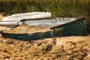 Row Boat Prints - Beached Print by Bill  Wakeley