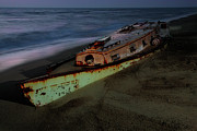 Dan Carmichael - Beached Boat at Night - Outer Banks