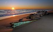 Dan Carmichael - Beached Boat at Sunrise...