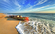 Beached Boat Morning - Outer Banks Print by Dan Carmichael