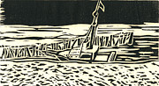 Dock Drawings - Beached Boat Wellfleet by Victoria Haskell