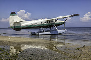 Lynn Palmer Prints - Beached Pontoon Sea Plane Print by Lynn Palmer