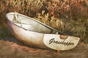 Painterly Photos - Beached Rowboat by Carol Leigh