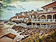 Beachfront Posters - Beachfront Living Poster by Colleen Kammerer