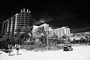 Property Prints - Beachfront Properties Miami South Beach Florida Usa Print by Joe Fox