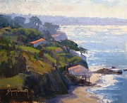 Malibu Painting Prints - Beachfront Print by Sharon Weaver