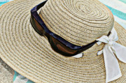 Sun Hat Posters - Beaching Poster by Fran James